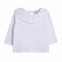 Camiseta basica cuello volante