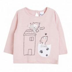 Camiseta gatito y casita