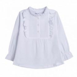 Camisa con pechera cuadrada - Newness - BGI98552