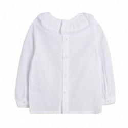 Camisa cuello bordado - Newness - BGI98591 mayorista de ropa al