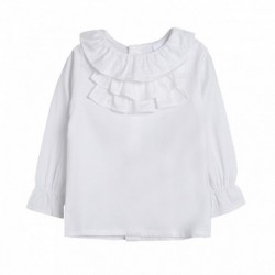 Camisa cuello volantes - Newness - BGI98502