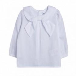 Camisa lisa cuello lazo - Newness - BGI98531 mayorista de ropa