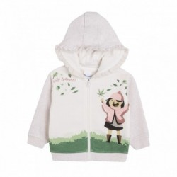 Chaqueta capucha de cremallera niña en el campo