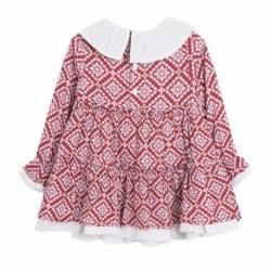 TMBB-BGI98528 fabricantes de ropa de bebé Vestido cuadros rojo
