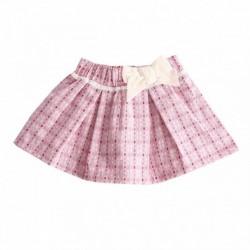 Falda cintura con lazo beige