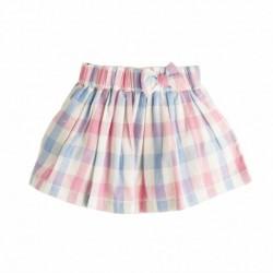 Falda cuadros rosa-azul
