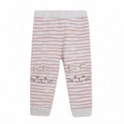 Pantalon rayas gatitos en rodillos