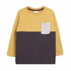 Camiseta con bolsillo gris