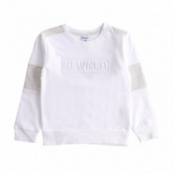 Sudadera felpa rizo manga detalles gris con letras fingerhh algodón 100%
