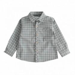 Camisa cuadros verdes algodón 100%