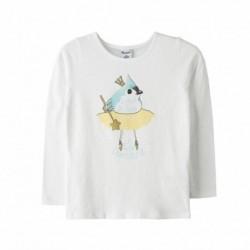 Camiseta peplum pajaro bailarin