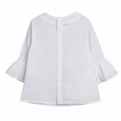 Blusa manga francesa con 2 capas de volante