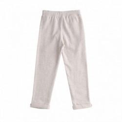 Pantalon deportivo cintura con cordon con detalle de flor verde