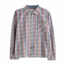 Camisa de cuadros con detalles denim
