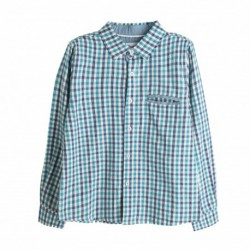 Camisa de cuadros rusticos azules - Newness - KBI06409