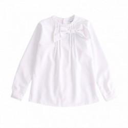 Camisa con lazo grande laderal algodón 100%