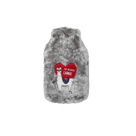 Bolsa de agua caliente con cubierta de pelo