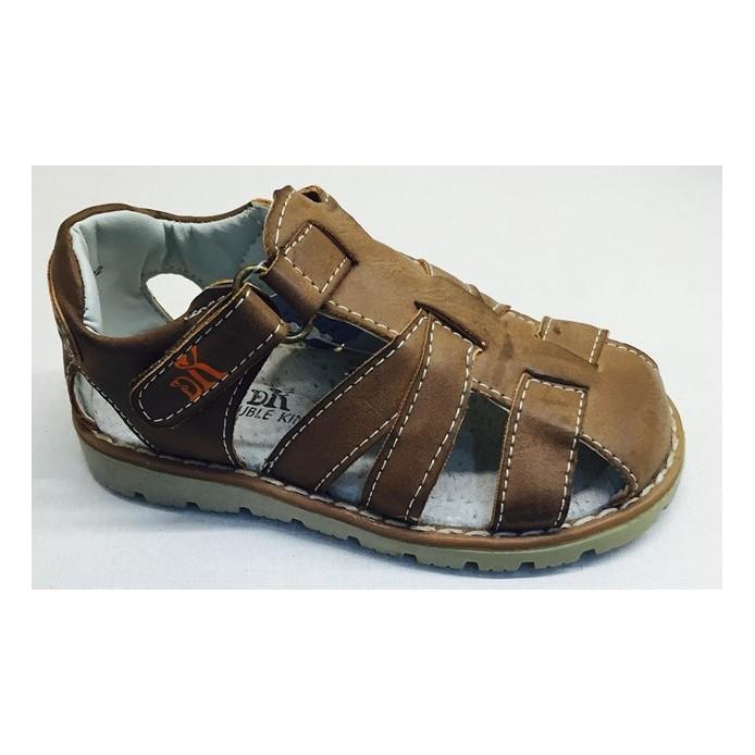 Sandalias cierre velcro interior piel - Calzados DK -