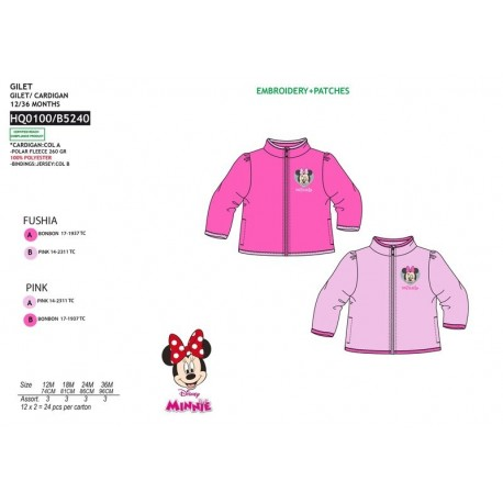 TMBB-HO0100-1 proveedor ropa de bebePolar Minnie 100% pe