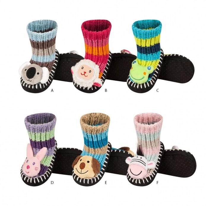 Zapatillas de punto bebé con cabeza de animal - Soxo - SXV-69060