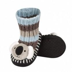 Zapatillas de punto bebé con cabeza de animal