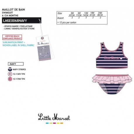 NFV-LMSE0068NAVY Comprar ropa al por mayor Bikini little