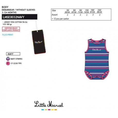 NFV-LMSE0032NAVY Comprar ropa al por mayor Body little marcel