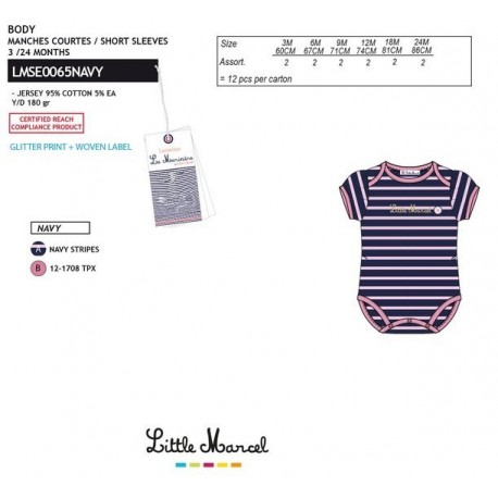 NFV-LMSE0065NAVY Comprar ropa al por mayor Body little marcel