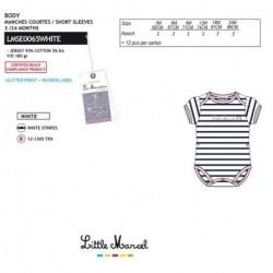 NFV-LMSE0065WHITE Comprar ropa al por mayor Body little marcel