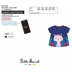 Camiseta mg corta little marcel - Little Marcel - NFV-LMSE0011NAVY