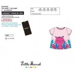 Camiseta mg corta little marcel - Little Marcel - NFV-LMSE0011PINK