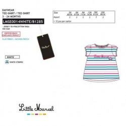 NFV-LMSE0014WHITE Comprar ropa al por mayor Camiseta mg corta