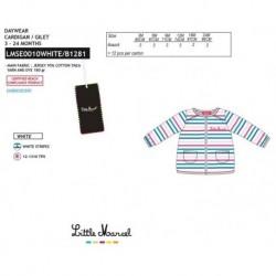 NFV-LMSE0010WHITE proveedor ropa de bebeChaqueta little marcel