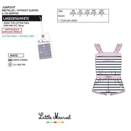 TMBB-LMSE0056WHITE Comprar ropa al por mayor Mono little mar -