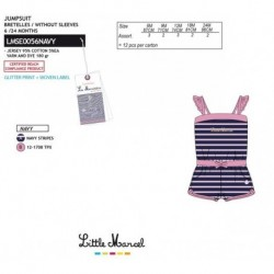 NFV-LMSE0056NAVY Comprar ropa al por mayor Mono little mar -