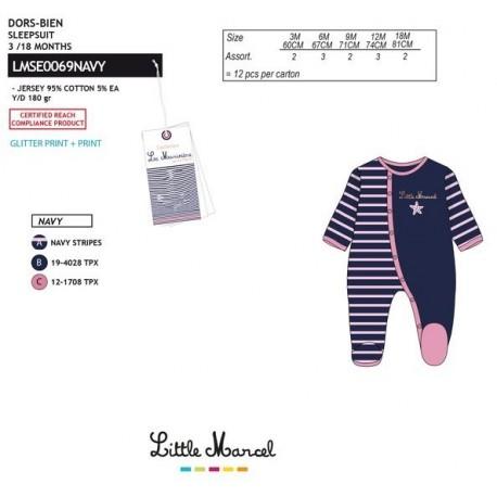 Pelele little marcel - Little Marcel - NFV-LMSE0069NAVY