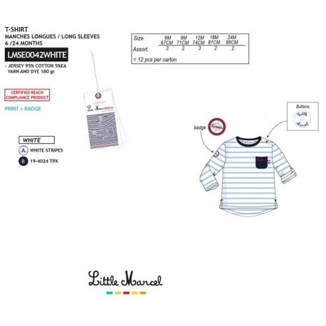 NFV-LMSE0042WHITE Comprar ropa al por mayor Camiseta little