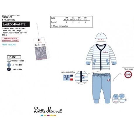 NFV-LMSE0046WHITE Comprar ropa al por mayor Conjunto little