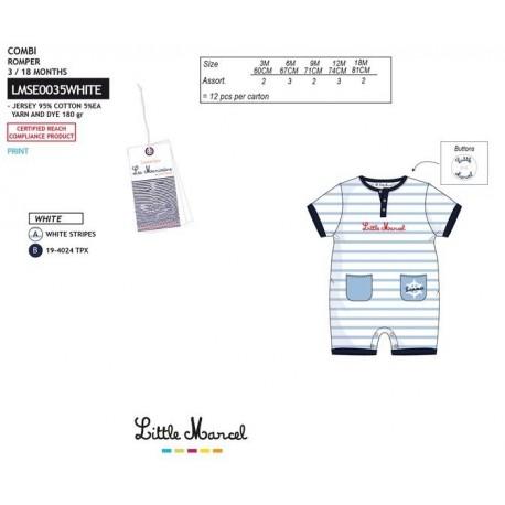 NFV-LMSE0035WHITE Comprar ropa al por mayor Mono little mar -
