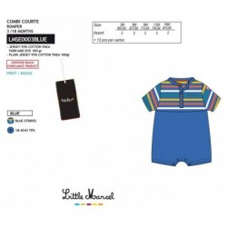 NFV-LMSE0003BLUE Comprar ropa al por mayor Mono little mar -