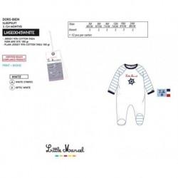 Pelele little marcel - Little Marcel - NFV-LMSE0045WHITE