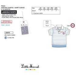 Polo mg corta little marcel - Little Marcel - NFV-LMSE0041WHITE