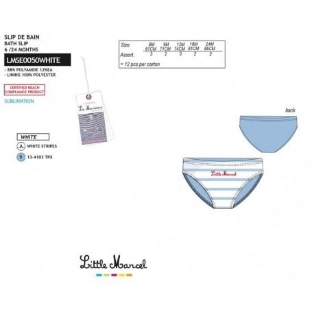 NFV-LMSE0050WHITE Comprar ropa al por mayor Slip baño little