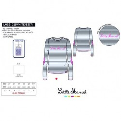 NFV-LMSE1028WHITE mayoristas de moda infantil Camiseta little
