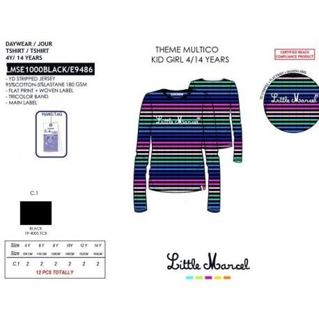 NFV-LMSE1000BLACK mayoristas de moda infantil Camiseta little