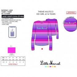 NFV-LMSE1000FUSHIA mayoristas de moda infantil Camiseta little