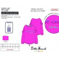 NFV-LMSE1005FUSHIA mayoristas de moda infantil Camiseta little