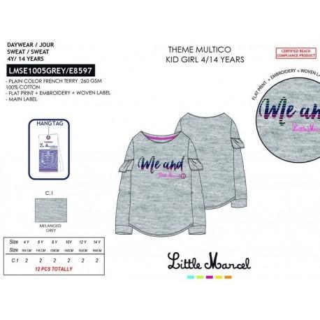 NFV-LMSE1005GREY mayoristas de moda infantil Camiseta little