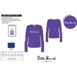 NFV-LMSE1028NAVY mayoristas de moda infantil Camiseta little