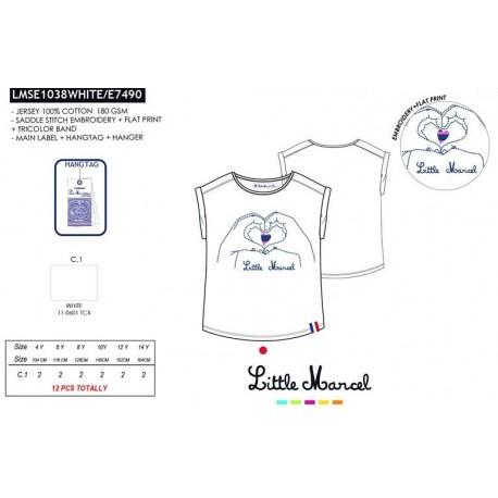 Camiseta mg corta little marcel - Little Marcel - NFV-LMSE1038WHITE